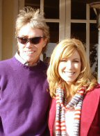 Steve Welker with Leeza Gibbons, L.A., March 2006